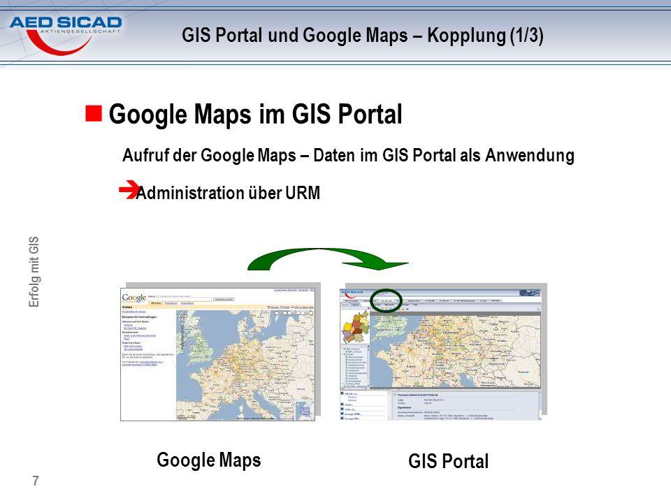 GIS Portal und Google Maps – Kopplung (1/3)