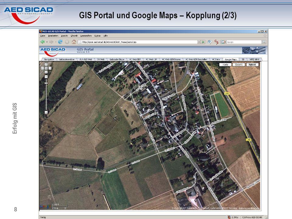GIS Portal und Google Maps – Kopplung (2/3)