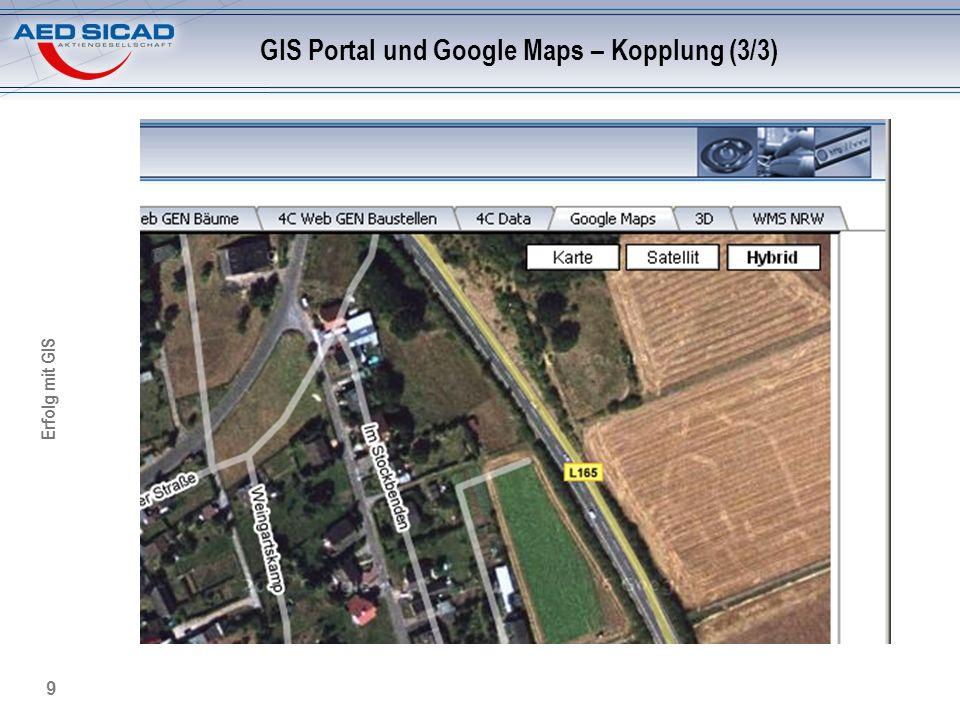GIS Portal und Google Maps – Kopplung (3/3)