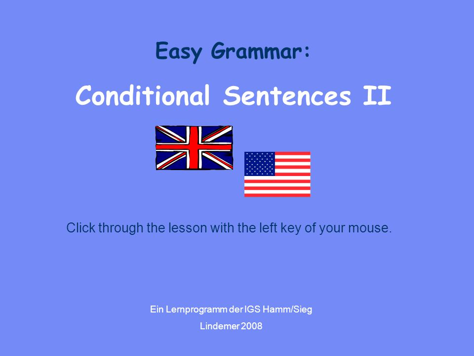 Conditional Sentences II
