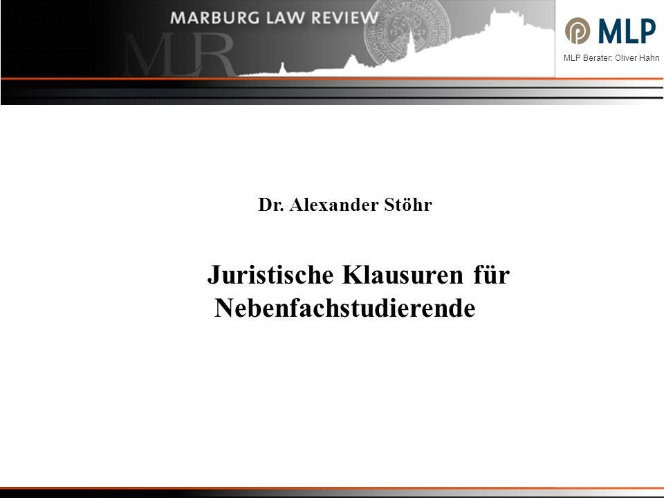 Juristische Klausuren für Nebenfachstudierende