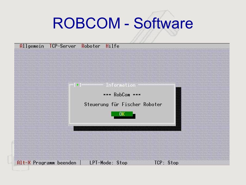 ROBCOM - Software