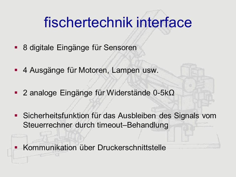 fischertechnik interface