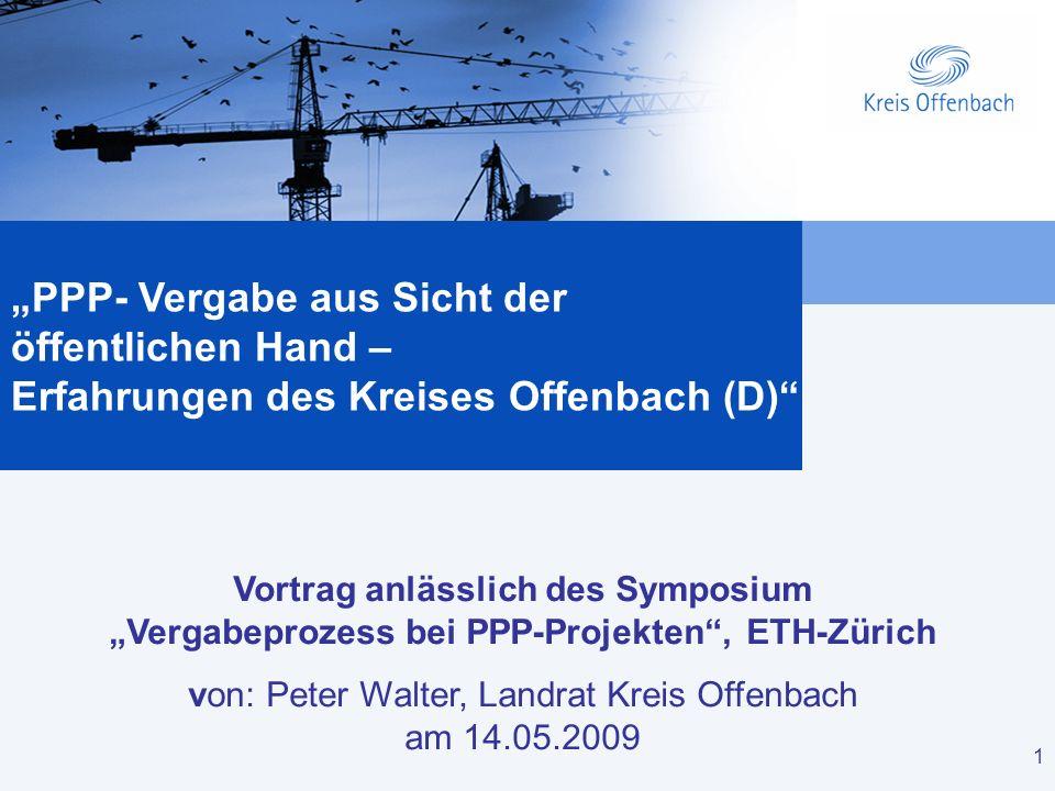 von: Peter Walter, Landrat Kreis Offenbach am 14.05.2009