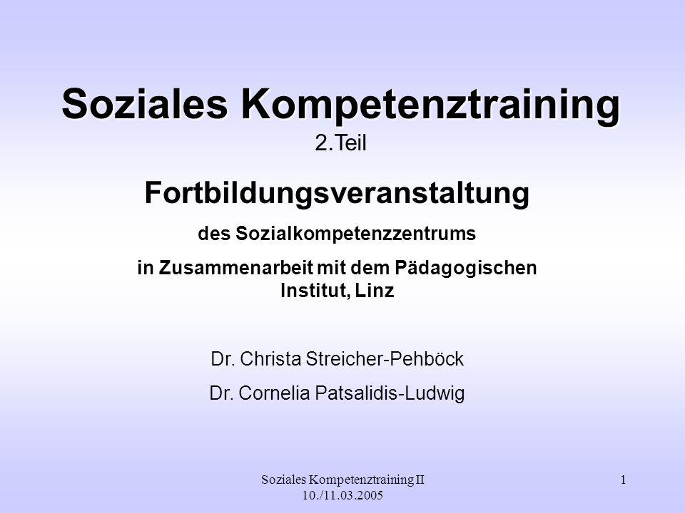 Soziales Kompetenztraining 2.Teil