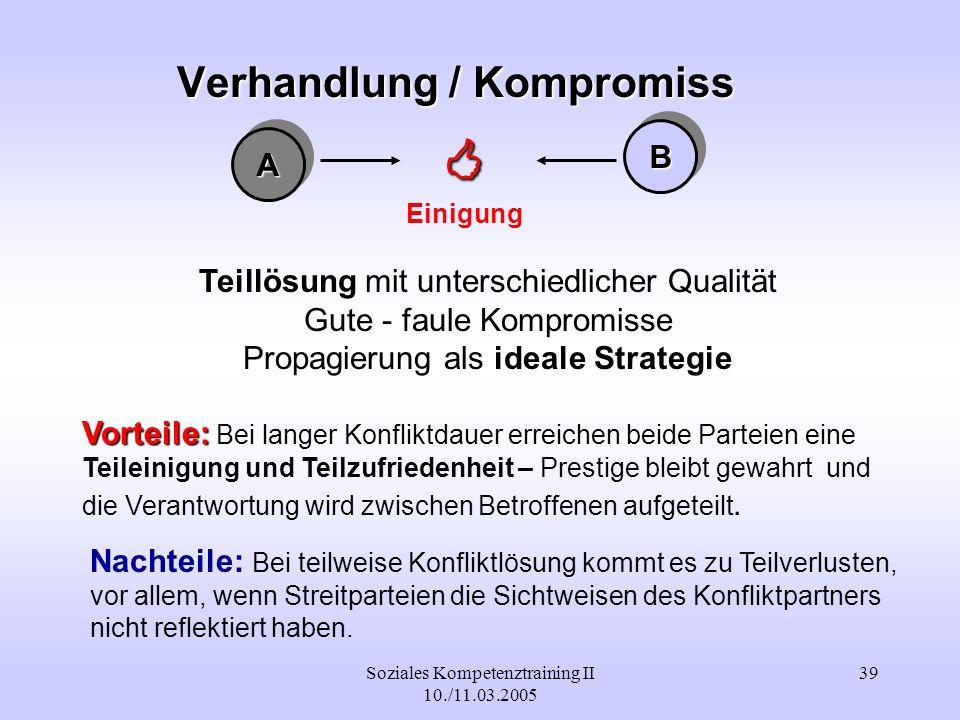 Verhandlung / Kompromiss