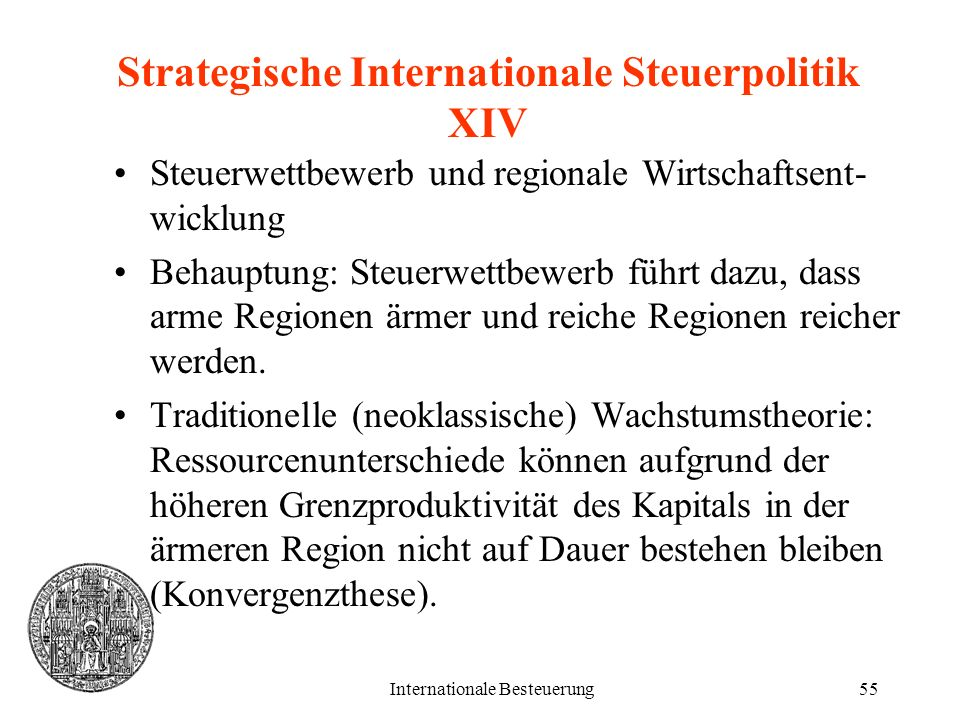Strategische Internationale Steuerpolitik XIV