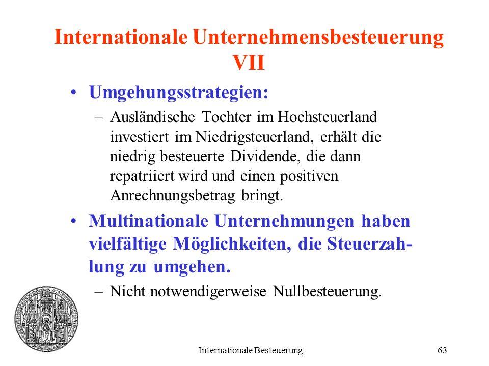 Internationale Unternehmensbesteuerung VII