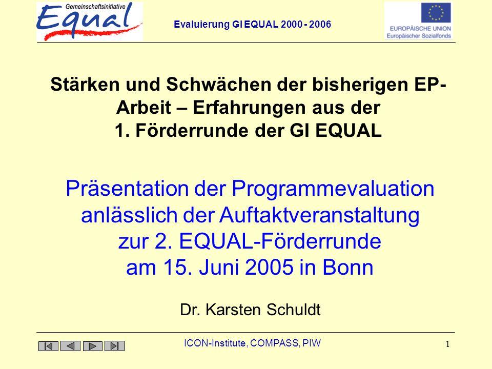 zur 2. EQUAL-Förderrunde am 15. Juni 2005 in Bonn