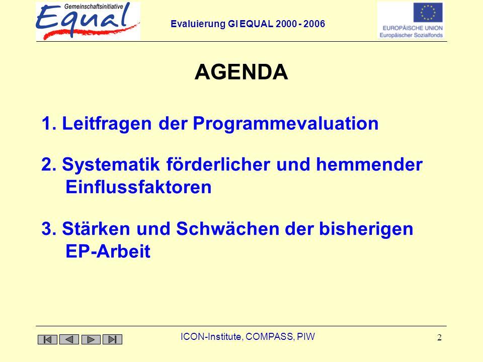 AGENDA 1. Leitfragen der Programmevaluation