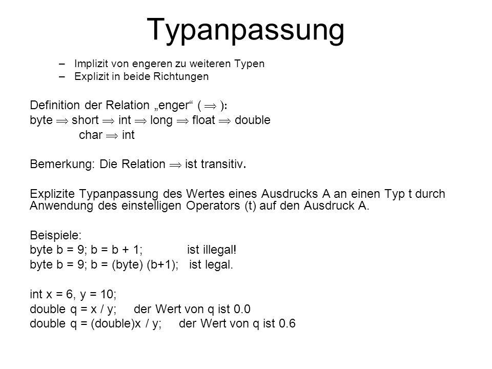 """Typanpassung Definition der Relation """"enger (  ):"""
