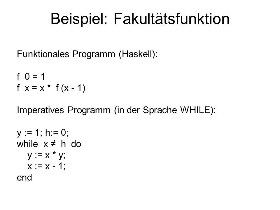 Beispiel: Fakultätsfunktion