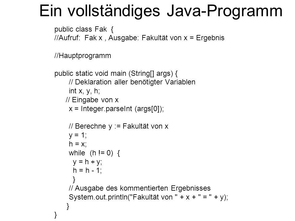 Ein vollständiges Java-Programm