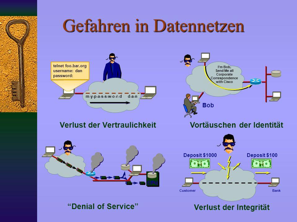 Gefahren in Datennetzen