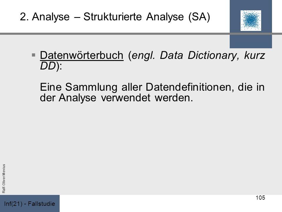 2. Analyse – Strukturierte Analyse (SA)