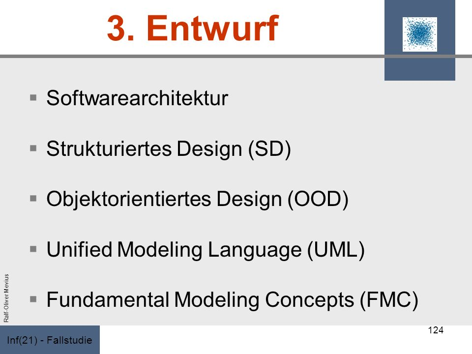 3. Entwurf Softwarearchitektur Strukturiertes Design (SD)