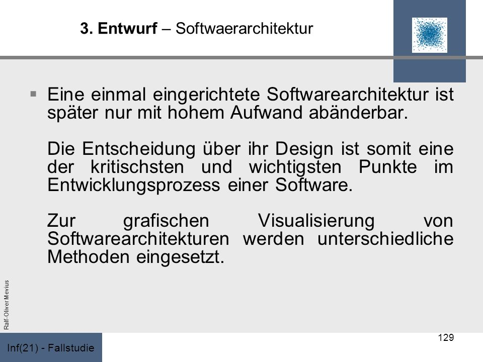 3. Entwurf – Softwaerarchitektur