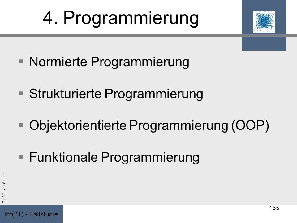 4. Programmierung Normierte Programmierung