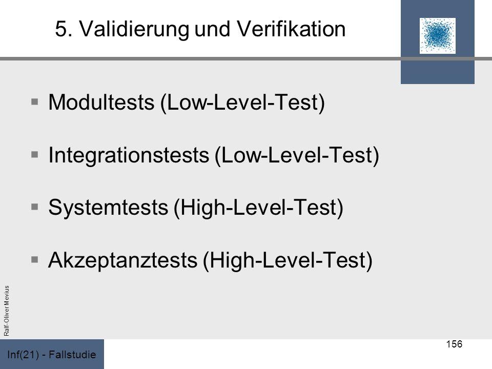 5. Validierung und Verifikation