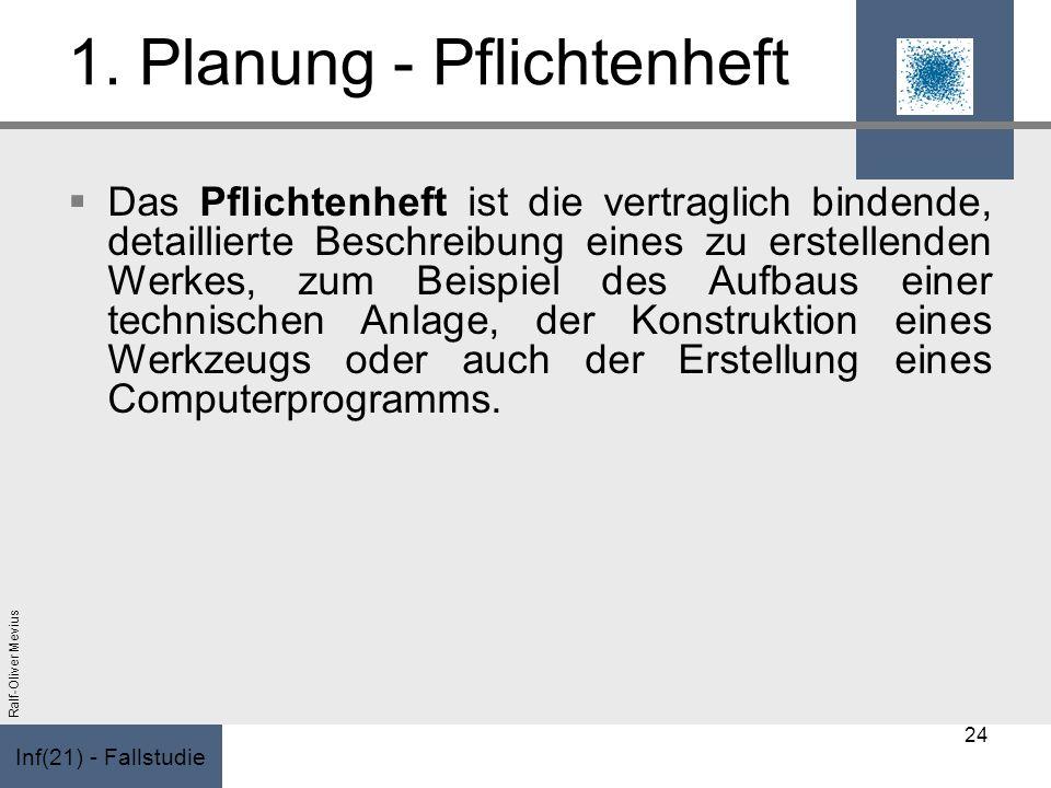 1. Planung - Pflichtenheft
