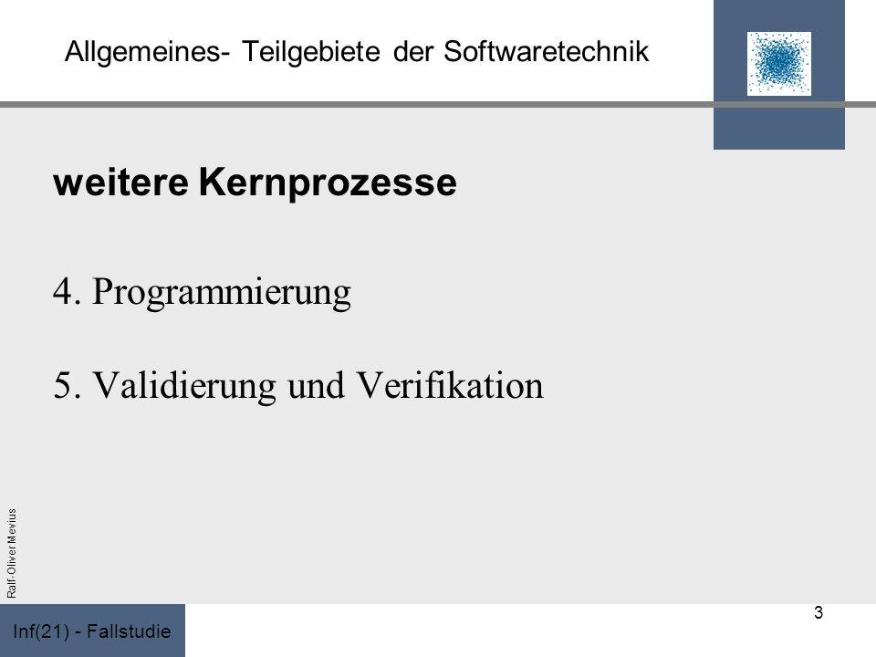 Allgemeines- Teilgebiete der Softwaretechnik
