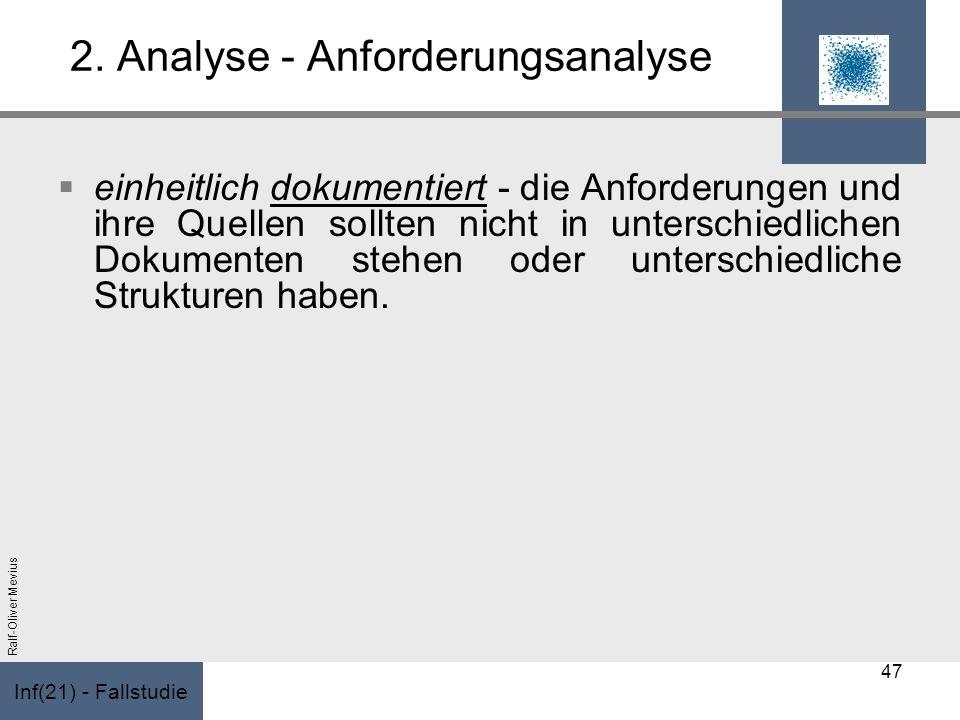 2. Analyse - Anforderungsanalyse