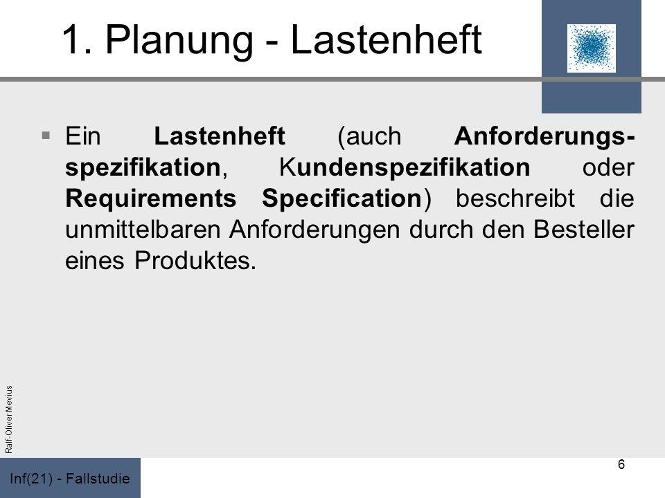 1. Planung - Lastenheft