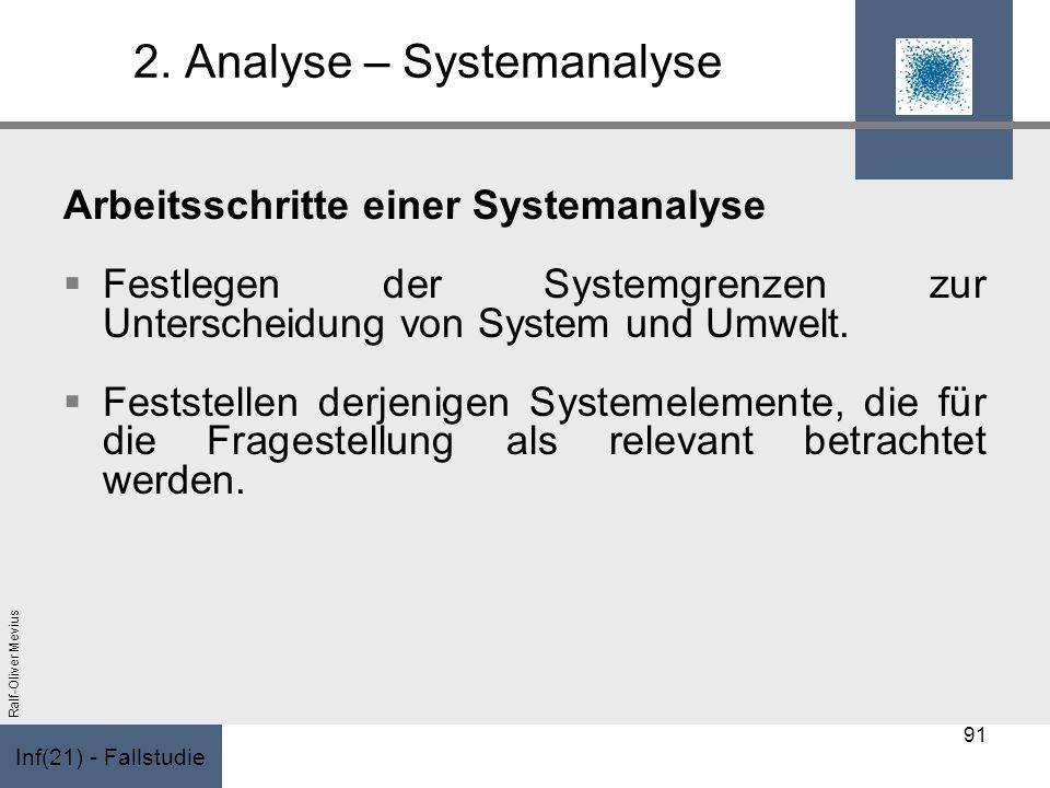 2. Analyse – Systemanalyse