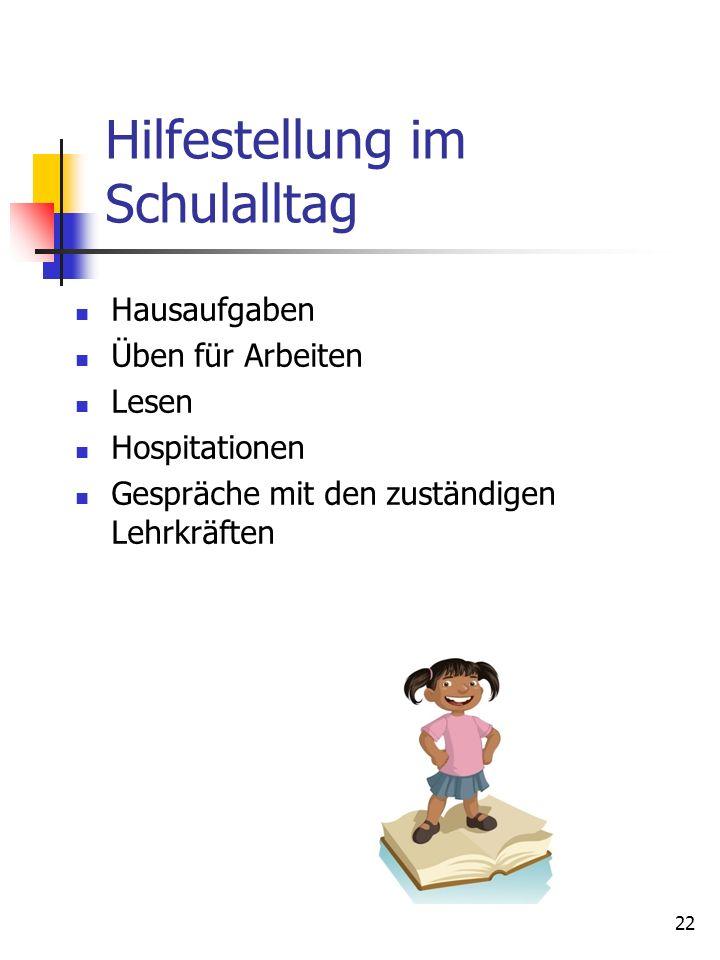 Hilfestellung im Schulalltag