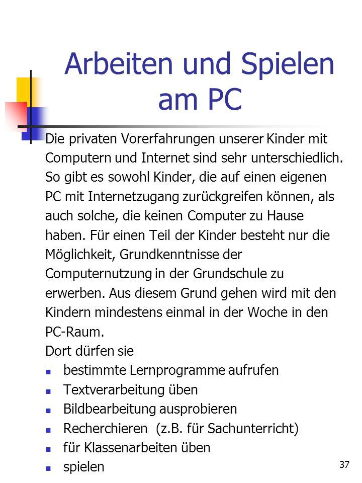 Arbeiten und Spielen am PC
