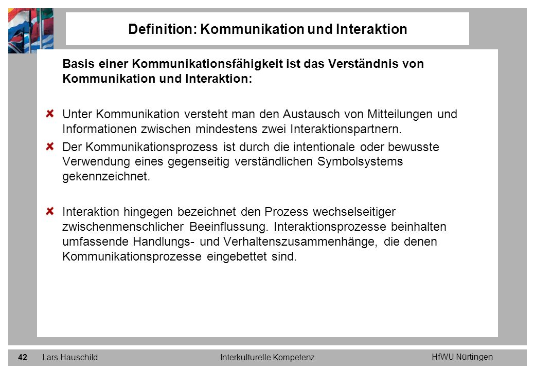 Definition: Kommunikation und Interaktion