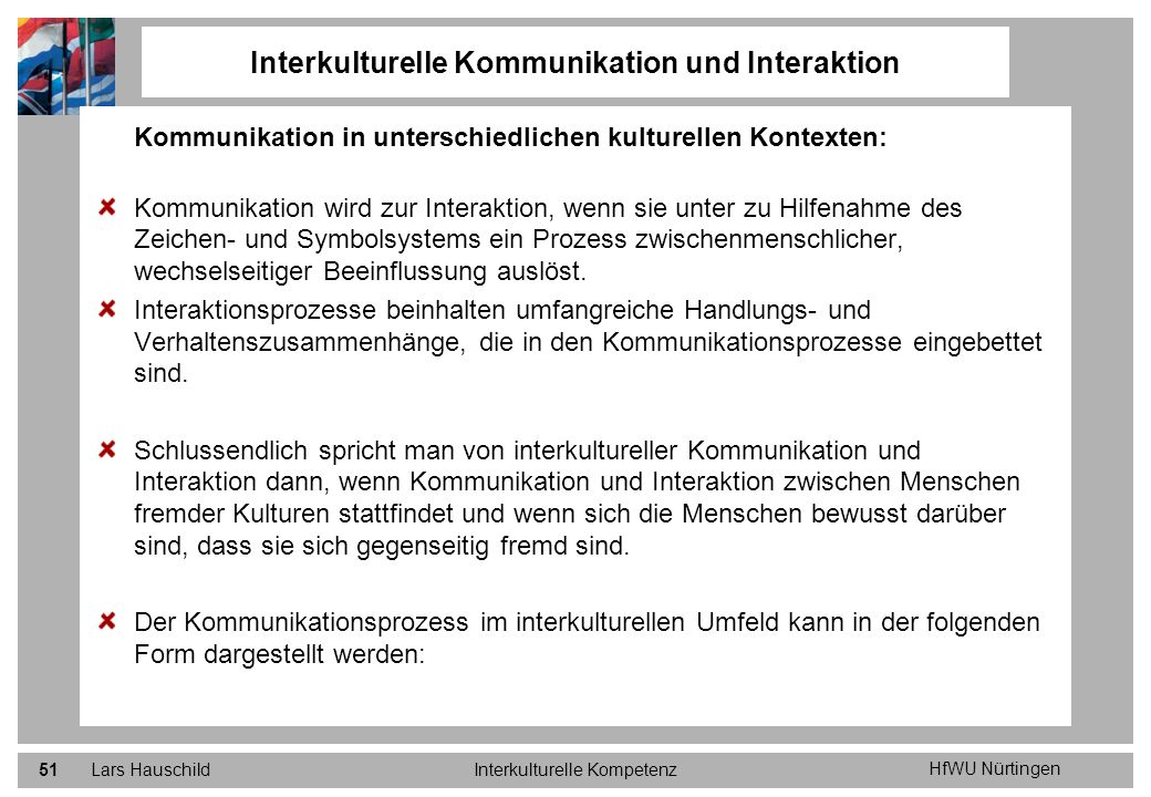 Interkulturelle Kommunikation und Interaktion