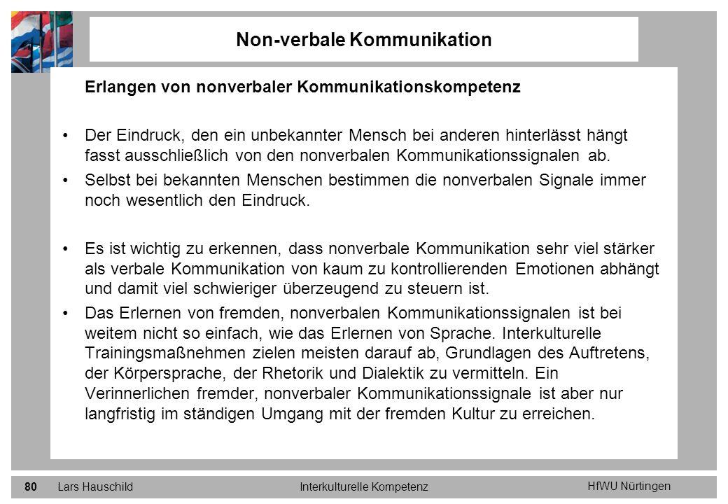 Non-verbale Kommunikation