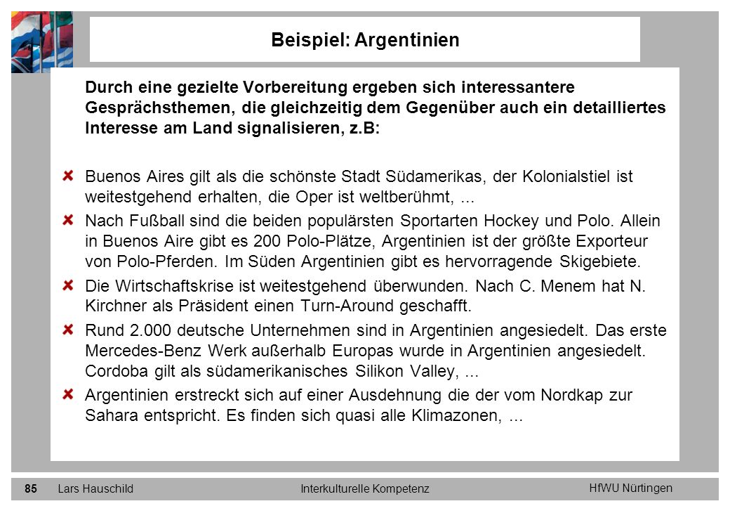 Beispiel: Argentinien