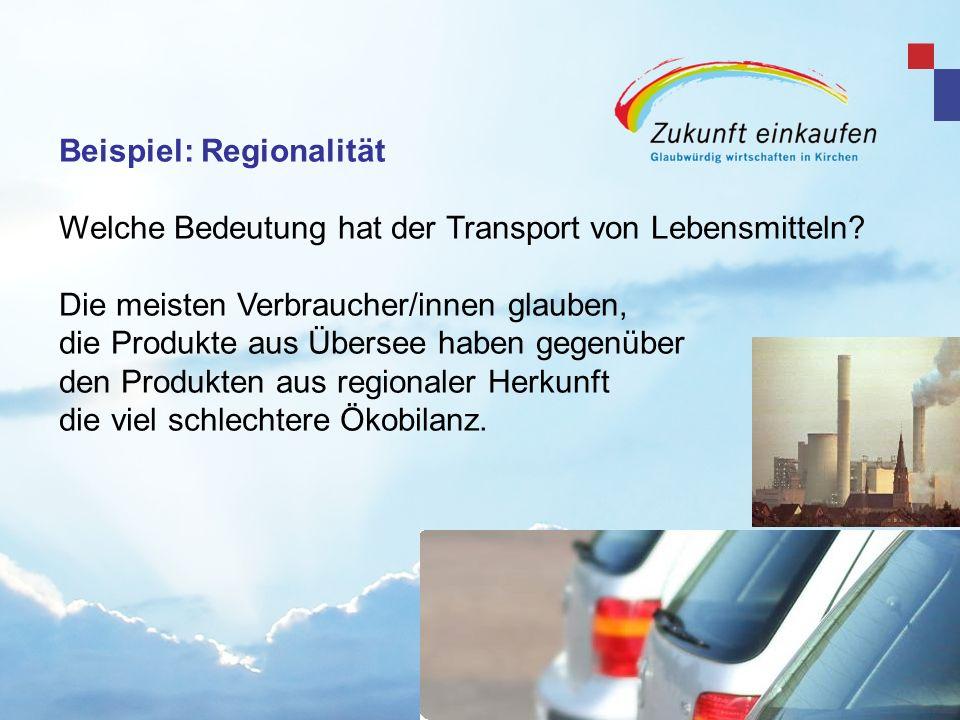 Beispiel: Regionalität