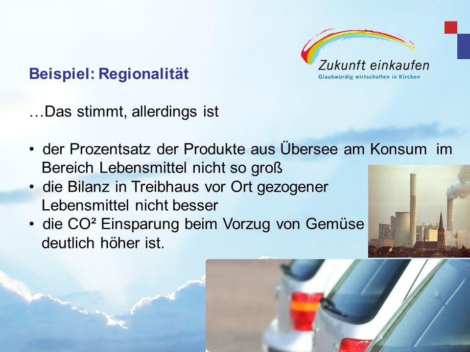 Beispiel: Regionalität …Das stimmt, allerdings ist