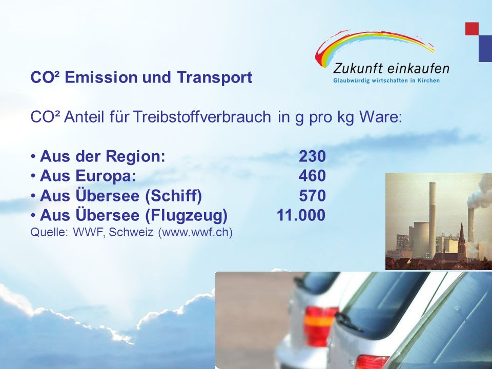 CO² Emission und Transport
