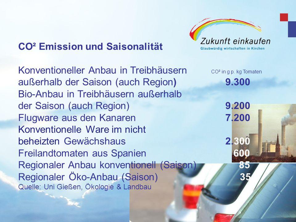 CO² Emission und Saisonalität