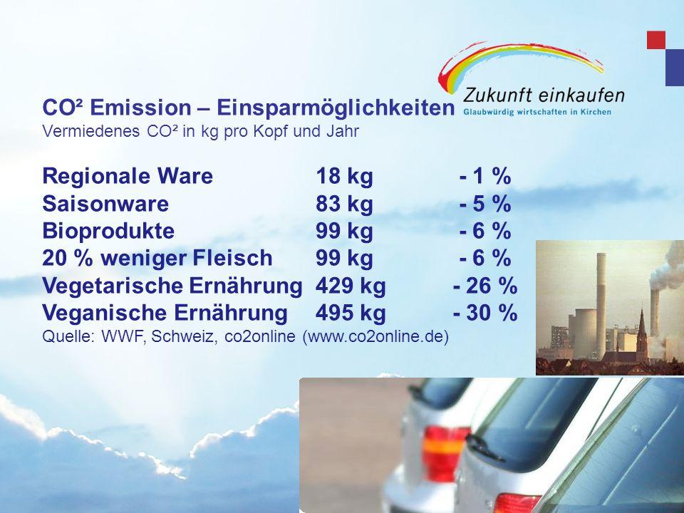 CO² Emission – Einsparmöglichkeiten