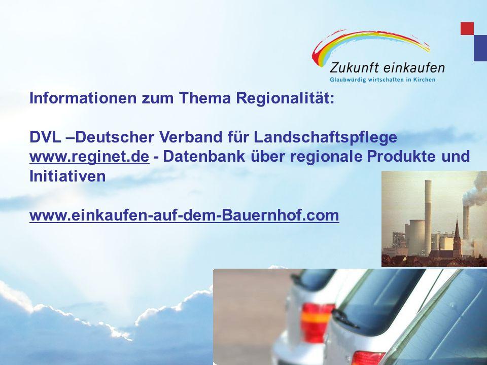 Informationen zum Thema Regionalität: