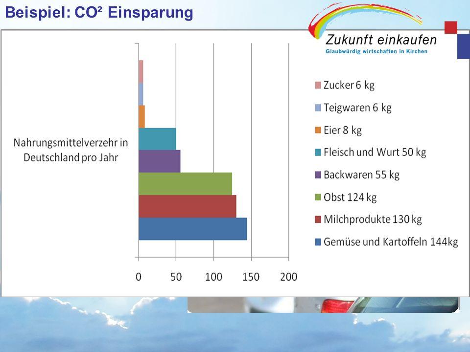 Beispiel: CO² Einsparung
