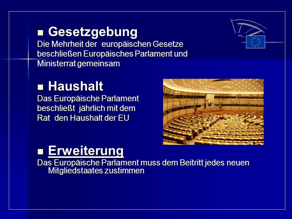 Gesetzgebung Haushalt Erweiterung