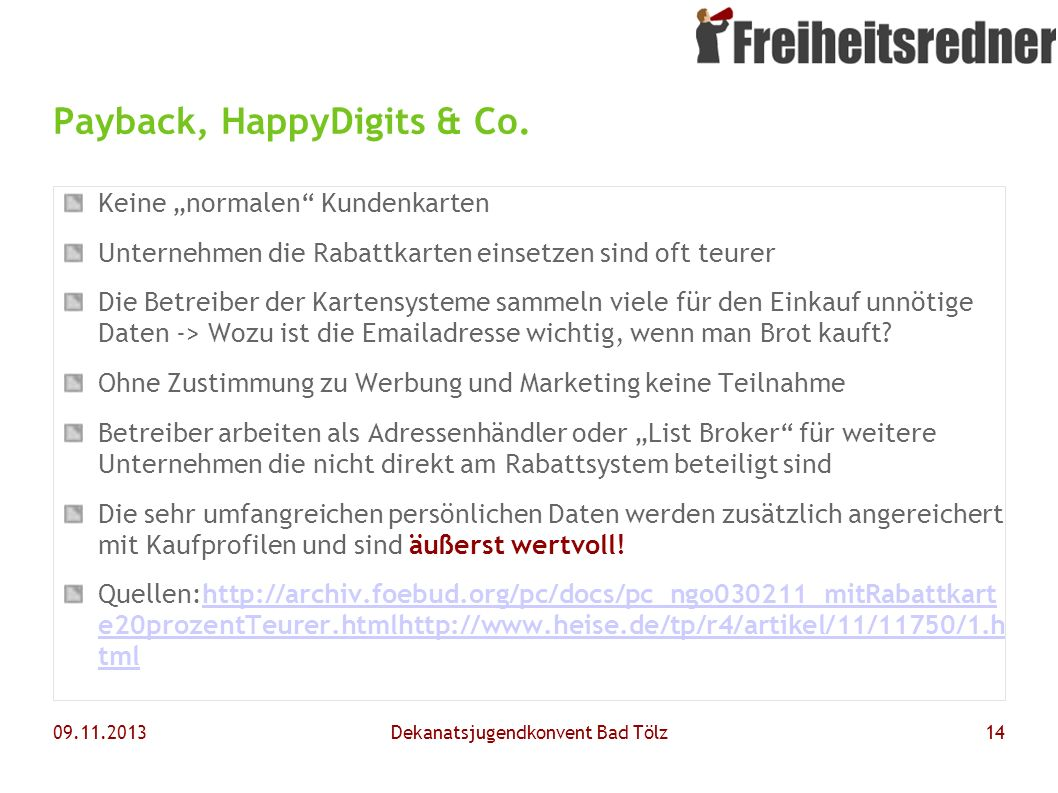Payback, HappyDigits & Co.