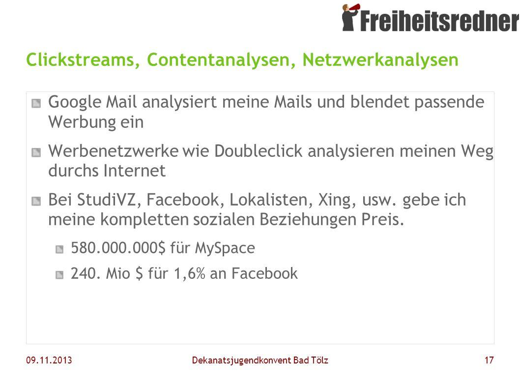 Clickstreams, Contentanalysen, Netzwerkanalysen