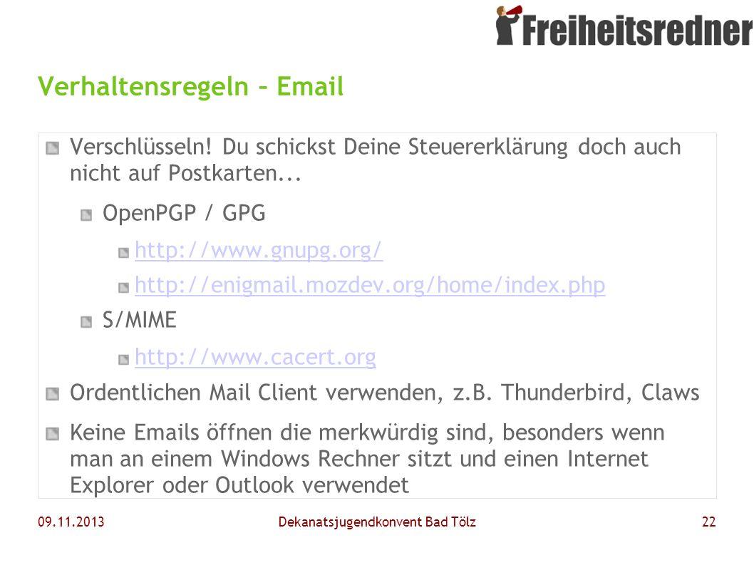 Verhaltensregeln – Email