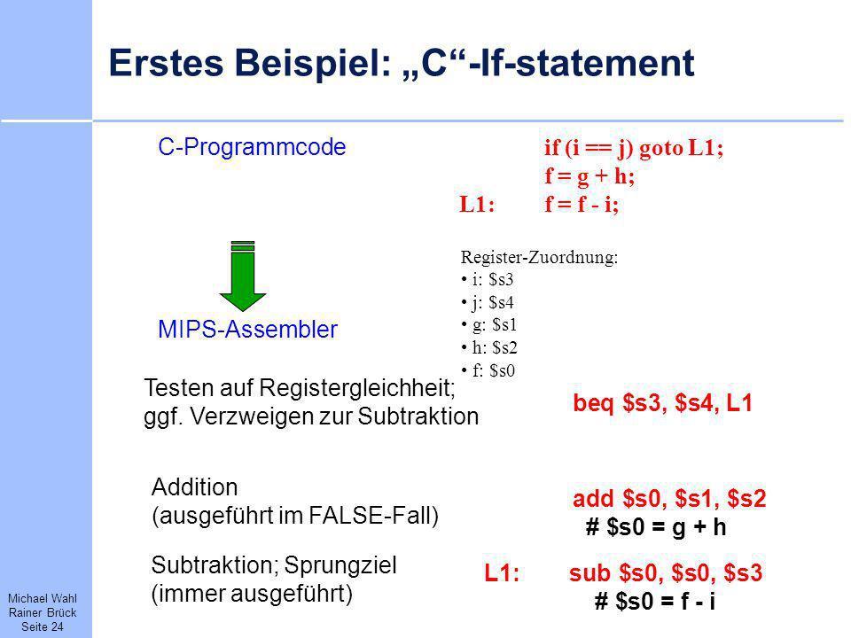 """Erstes Beispiel: """"C -If-statement"""