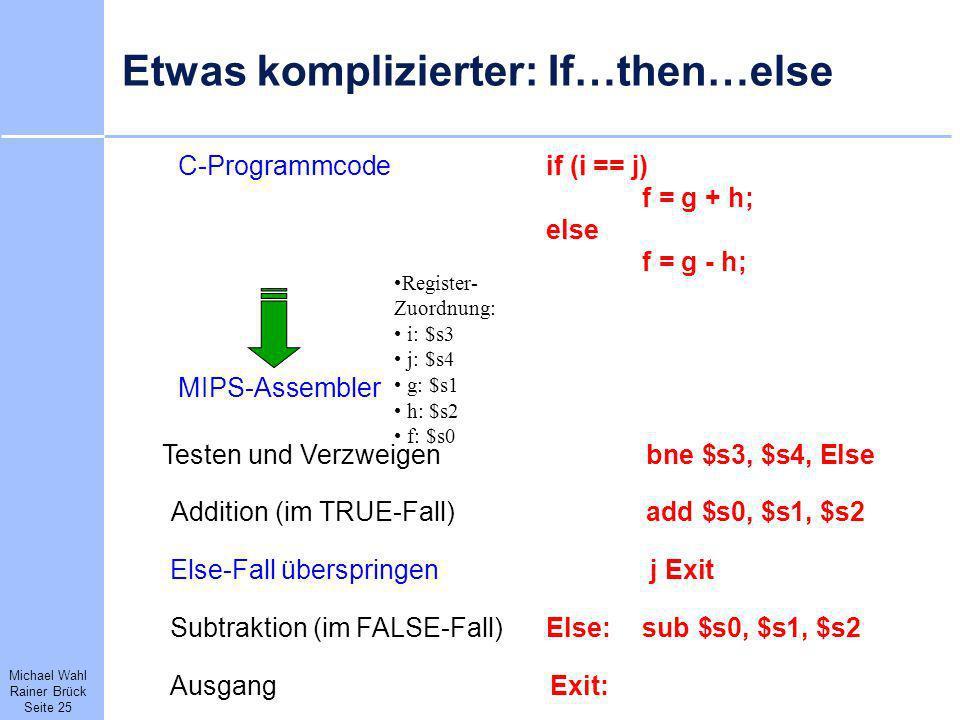 Etwas komplizierter: If…then…else
