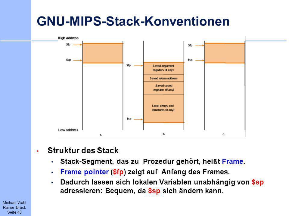 GNU-MIPS-Stack-Konventionen