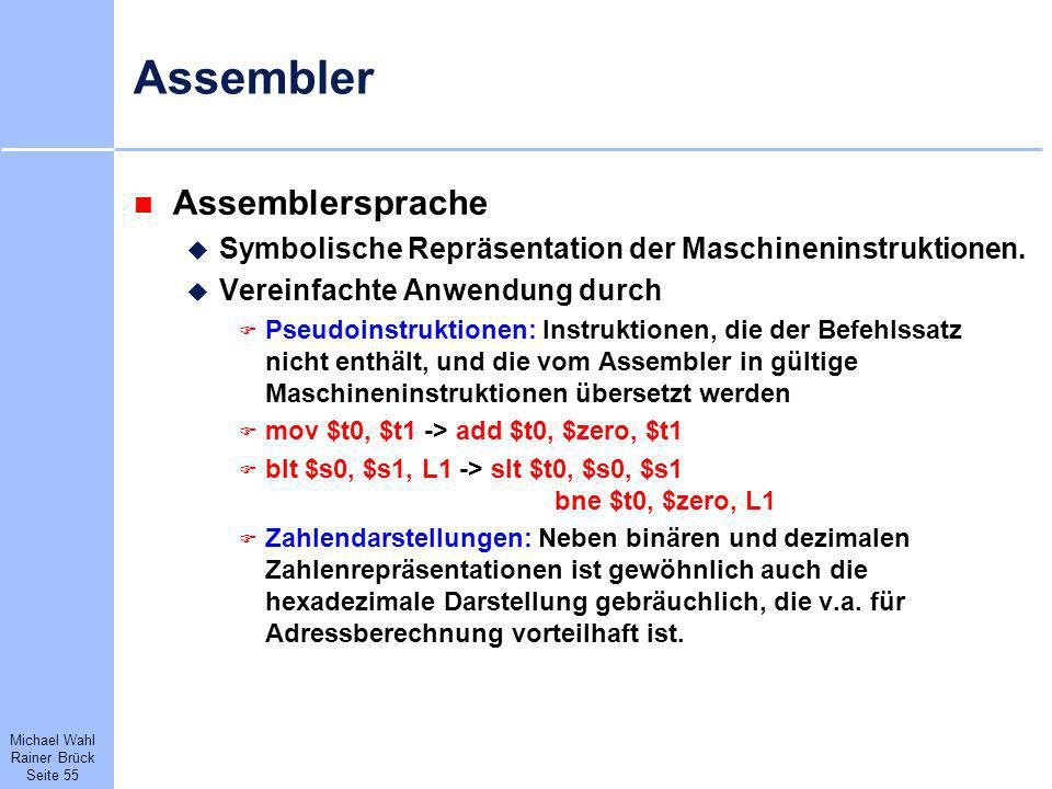 Assembler Assemblersprache