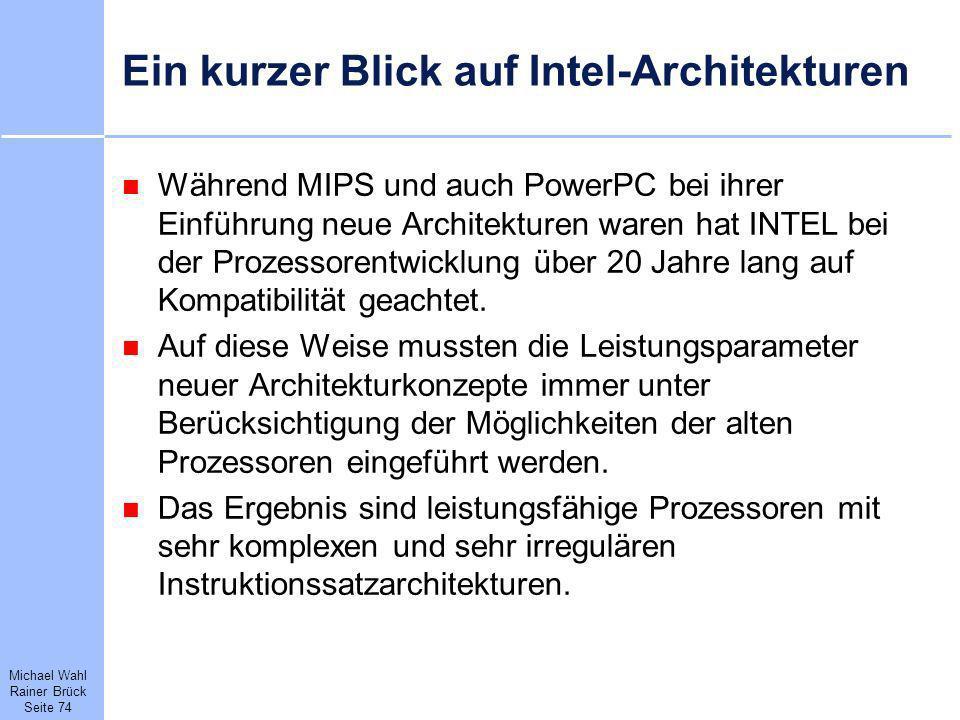 Ein kurzer Blick auf Intel-Architekturen